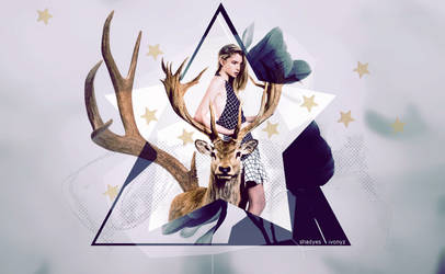 deer abstract by shadyes
