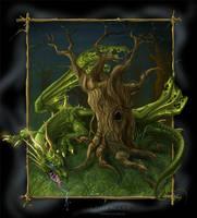 dark woods by CyanBlutgeissel