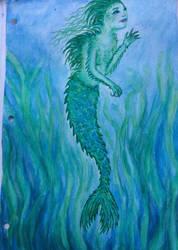 Green Mermaid by BEE-you-tiful
