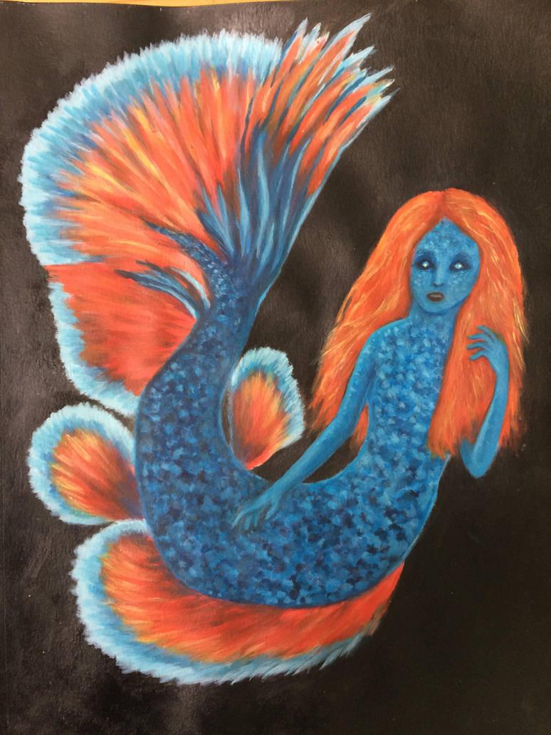 Betta mermaid by BEE-you-tiful