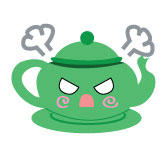 Mad Teapot Button by DayGlowStudio