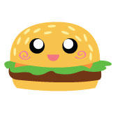 Cheeseburger Button by DayGlowStudio