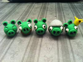 Angry Bird Piggies by KatGore