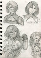 Female Winter Soldier quick sketch by HungDK