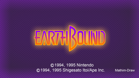 EarthBound Title Screen Remake by Mathim-Draw