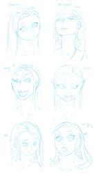 Razicon emotion sketches by Razicon