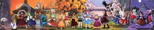 AWA Touhou Scroll Project by Totaku