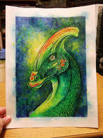Parasaurolophus by Nicole-Marie-Walker