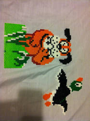 Duck Hunt Bead Sprites by HottieNanako