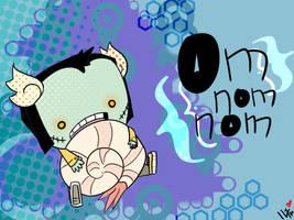 ::Om Nom Nom Shrimpy:: by undrnoted-philosophy