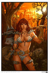 Red Sonja by OAK-Art-Gallery