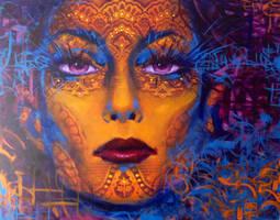 woman in veil by OAK-Art-Gallery