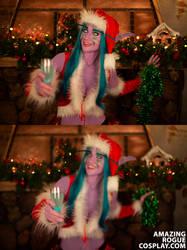 Winter Veil Night Elf: Cheers! by AmazingRogue