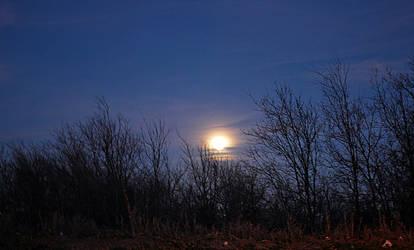 Full Moon rising by Highcoup