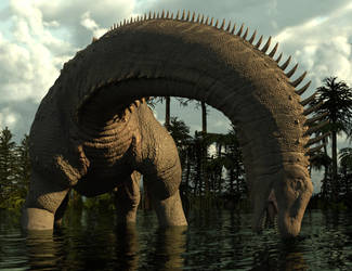 Alamosaurus by Oblomovomich