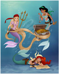Pirate Mermaids: Commission by madmoiselleclau