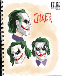 Sketchbook - Joker concept by FelipeBriani