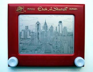 Philadelphia Etch by bryanetch