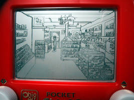 Independant Record Store Etch by bryanetch