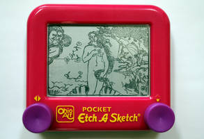 Birth of Venus Etch-a-Sketch by bryanetch