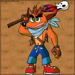 Crash bandicoot as Nathan drake by iWander12