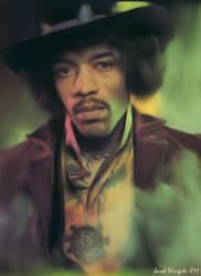 Jimi Hendrix by JaredWingate