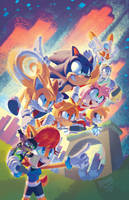 Sonic Universe #96 variant cover by EvanStanley
