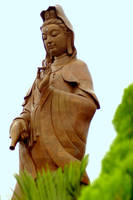 Bronze statue of Guan Yin by esee