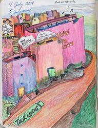 Book Worm-ville by SonyaSpiral