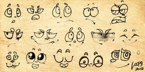 Facial Expressions Exercise by AnaPunda
