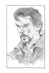 Dr.Strange Pencil Drawing.. by ayush627