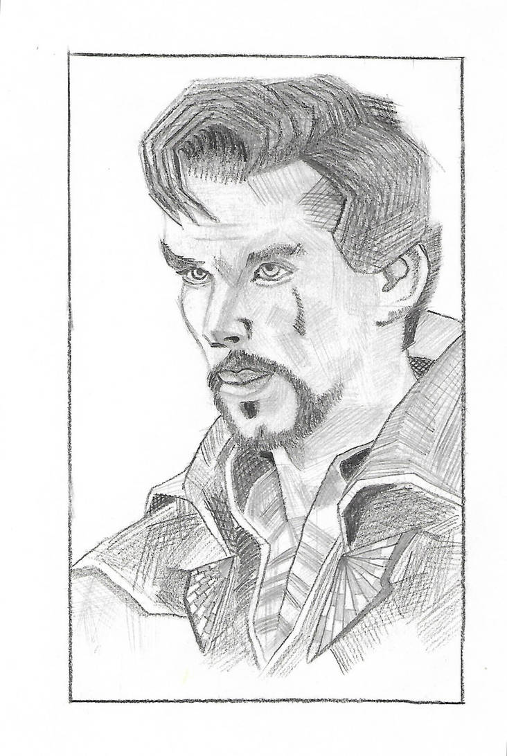 Dr strange pencil drawing by ayush627