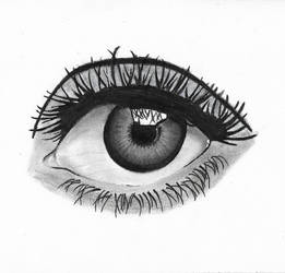 Realistic Eye Drawing by ayush627