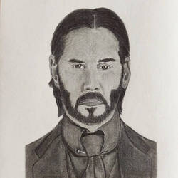 John Wick Pencil Drawing by ayush627