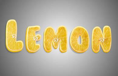 Lemon text logo by MrBeholder