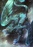 Collab - Ice Griffin by Aurora-Silver