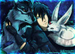 SS - Noctis, Umbra and Carbuncle by Aurora-Silver