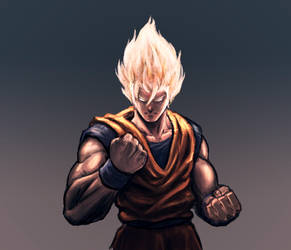 Super Saiyan by wanderingstreet