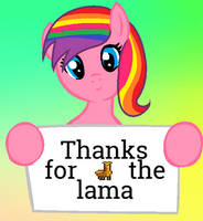 Thanks For The Lama by splashiesarts