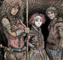 Neverwhere - Hunter, Door and Richard by Fuelreaver