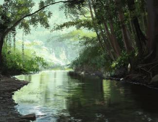 River Photo Study - Speed by krazykrista