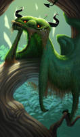 Moss Demon by krazykrista