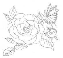 Flower Tattoo by tygertailzz