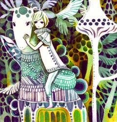 jungle giraffe by koyamori