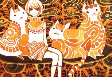 big cats by koyamori