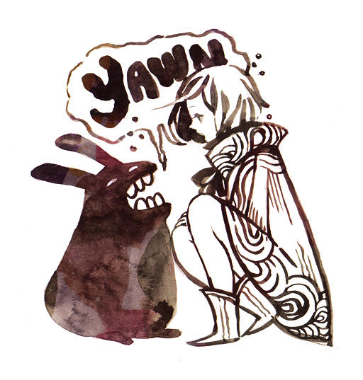 yawn by koyamori