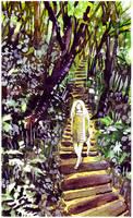 woodland path by koyamori