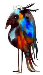 long legged homing bird by koyamori