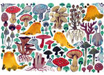 Mushrooms + Slugs by koyamori