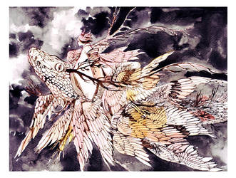 flying creature by koyamori